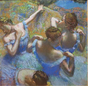 Blue Dancers painting in Moscow Pushkin Museum