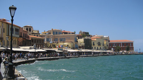 promenade in the city of Chania