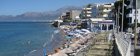 One of the beaches in Hersonissos