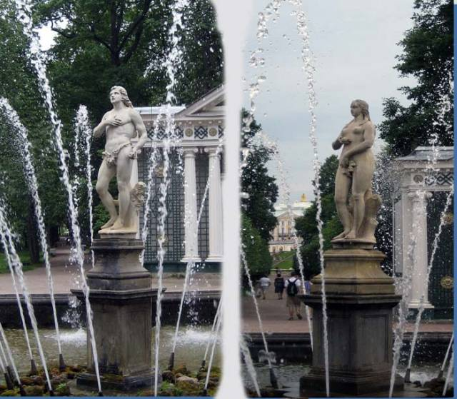 """""""Adam"""" and """"Eve"""" fountains"""