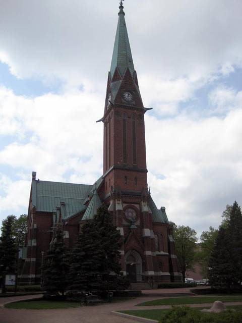 Cathedral in the city of Kotka