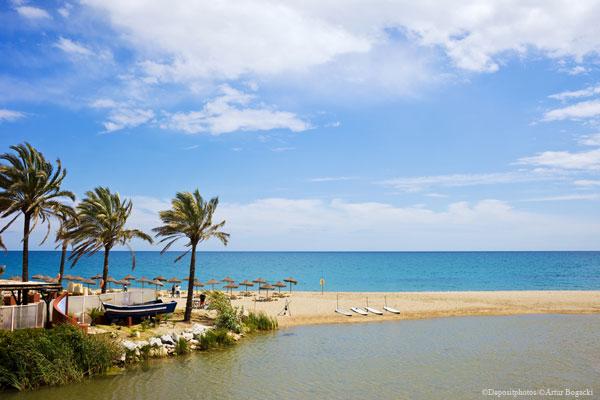 Costa del Sol coast in Spain