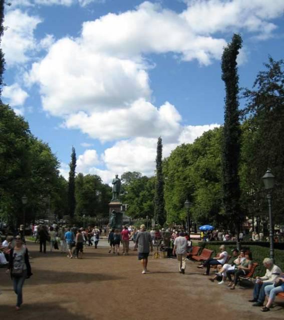 Esplanade Park in Helsinki