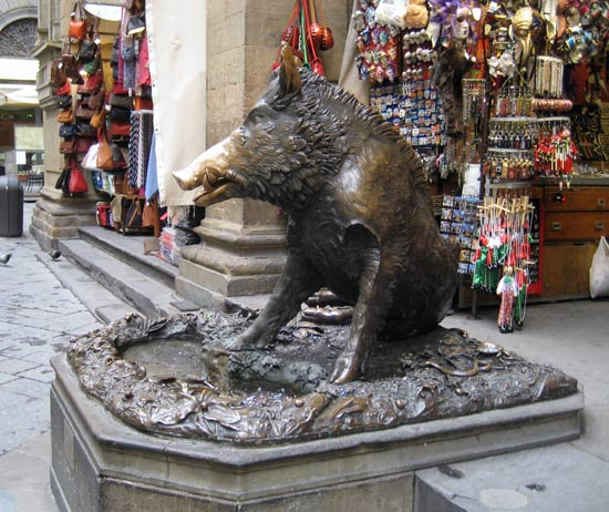 """Wild boar"" fountain in Florence"