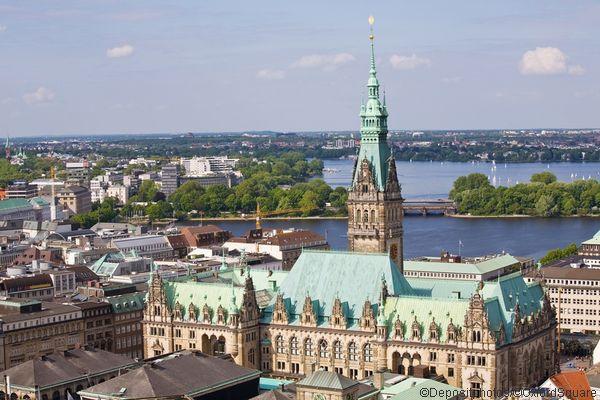 Старый город Гамбург фото