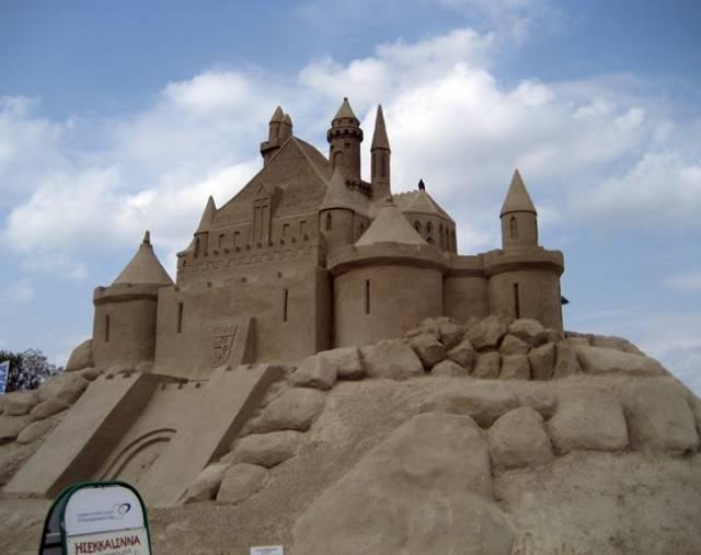Sand castle   in Lappeenranta
