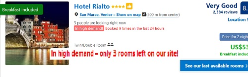 hotel Venice booking