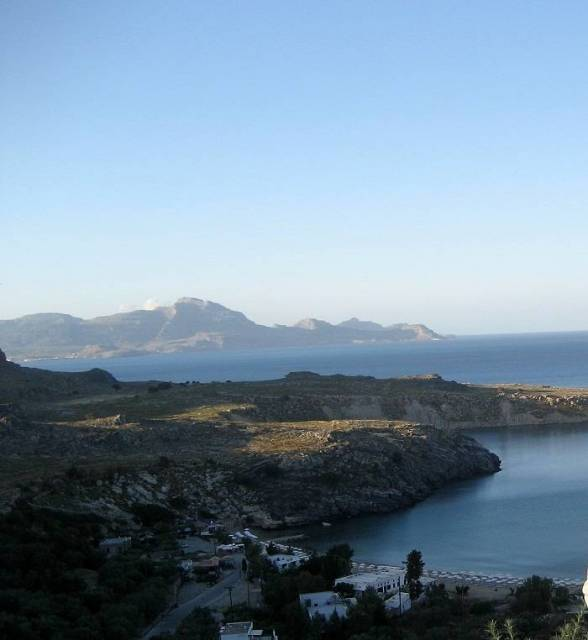 Seascape on the island of Rhodes