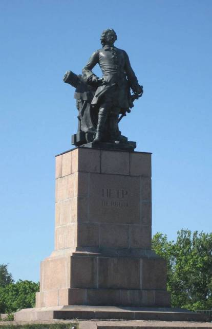 Monument to Peter the Great in Vyborg