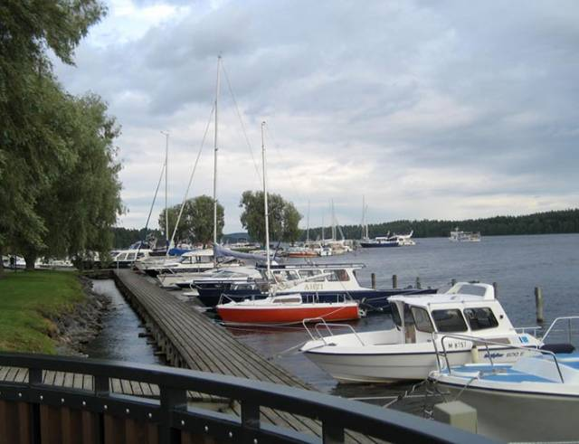 Ships on Lake Saimaa