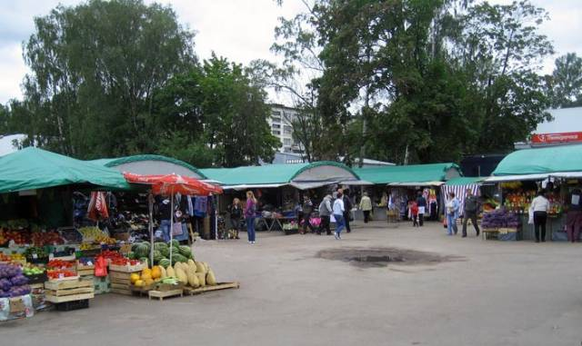 South Market Square in   Vyborg