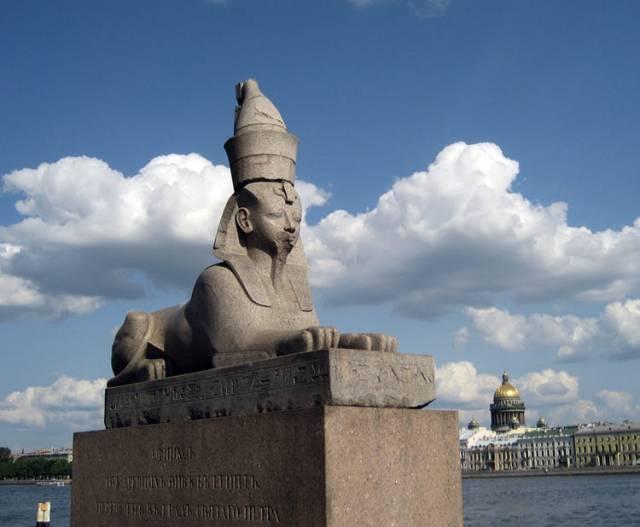 Sfinksit  Pietarissa, valokuva