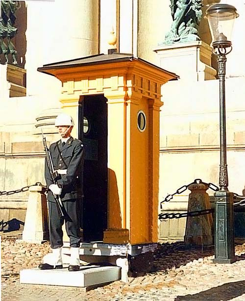 The guard at the Royal Palace