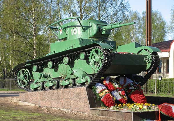 Tank T-26 monument