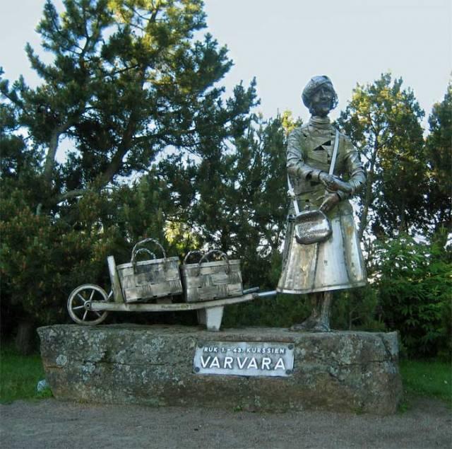 """The """"Varvara"""" monument in the  Hamina city"""