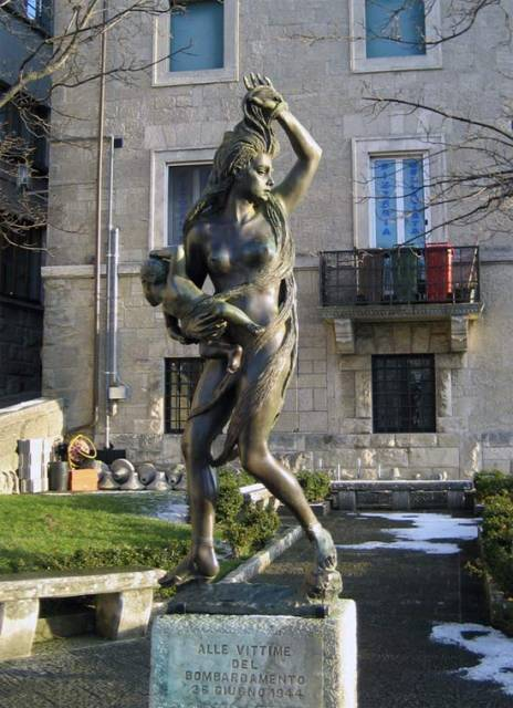 Монумент жертвам бомбардировок в Сан-Марино