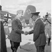 The photo  of Hitler and Mannerheim meeting during the Second World War.  (SA-kuva).