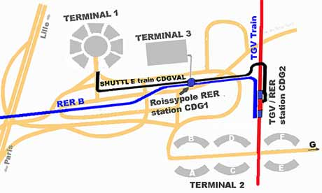 airport terminals location scheme