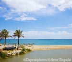 The beach on the costa del sol in Spain