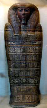 Sarcophagus lid from Egypt. Hermitage, photo.