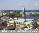 Вид на Старый город, Гамбург
