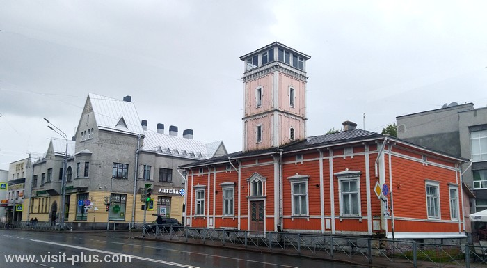Fire station in Sortavala