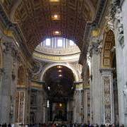 interior design of the St. Peter's Basilica photo