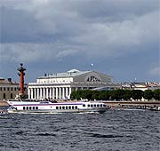 Old Saint Petersburg Stock Exchange  and Rostral Columns photo
