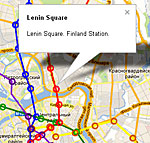 Metro stations location of the on the city map