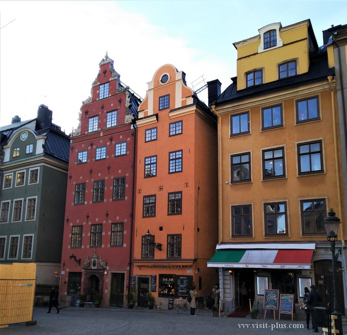Houses on Stortorget Square