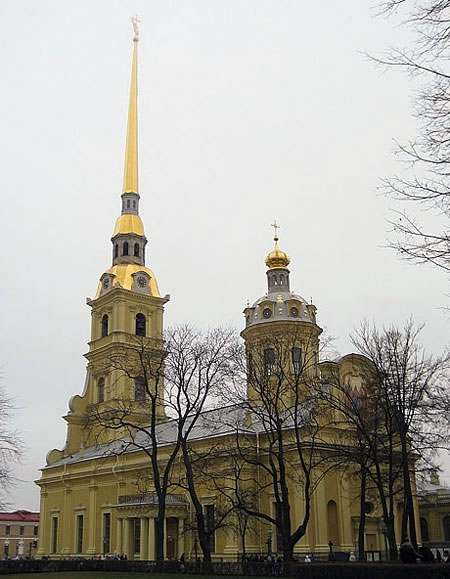 The Peter and Paul Cathedral in Saint Petersburg