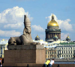 Egyptian Sphinxes in Saint Petersburg photo.