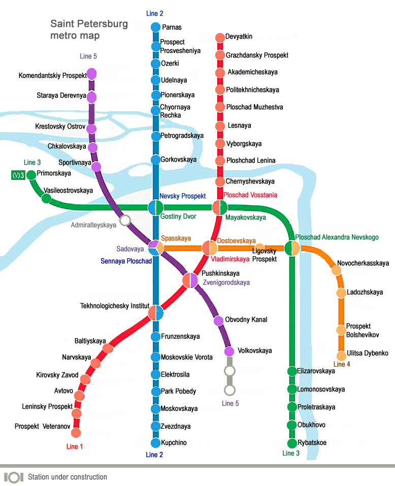 Subway Map Saint Petersburg.Saint Petersburg Metro Useful Information For Travelers About The